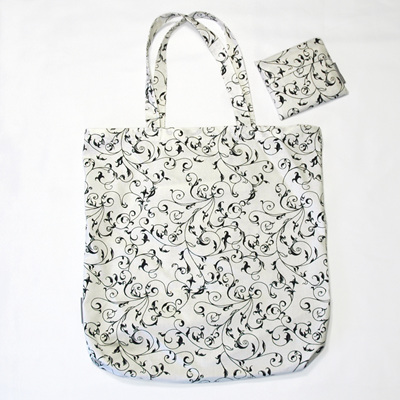 carry pouch | white/black swirls
