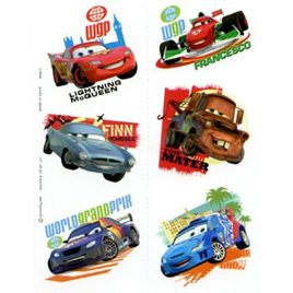 Cars 2 - 2 sheets temporary Tattoos
