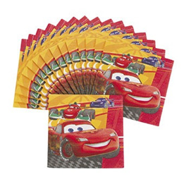 Cars 2 party napkins x 16 3D effect