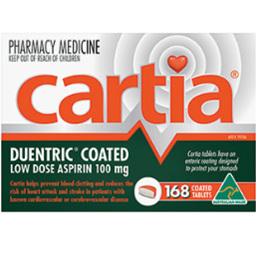 CARTIA 100MG 168 TABLETS