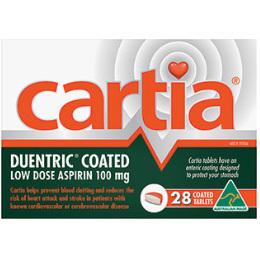 CARTIA 100MG 28 TABLETS