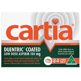 CARTIA 100MG 84 TABLETS