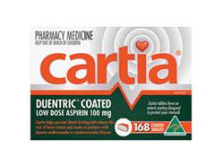 CARTIA ASPIRIN TAB 168