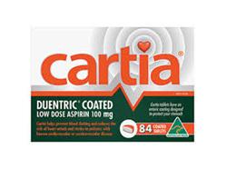 CARTIA ASPIRIN TAB 84