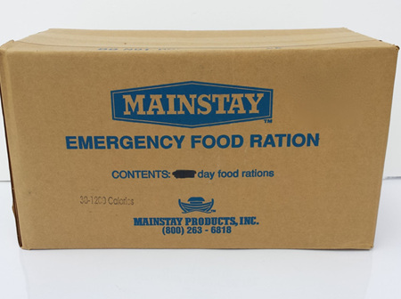 Carton - Emergency 1-Day Food Rations (30 packs)