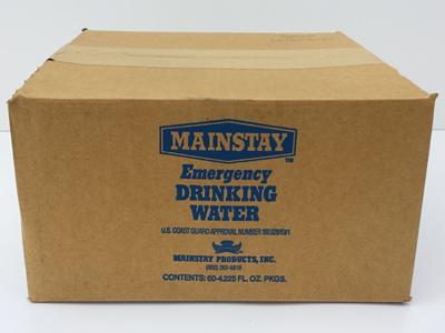 Carton - Emergency Water Sachets (60 x 125ml) EXPIRY: 03/2023