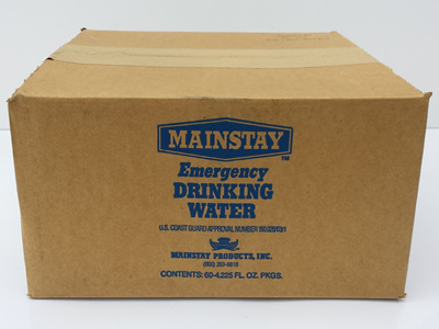 Carton - Emergency Water Sachets (60 x 125ml) EXPIRY: 11/2021