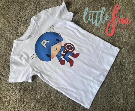 Cartoon Captain America T-shirt