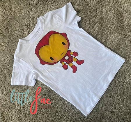 Cartoon Iron Man T-shirt