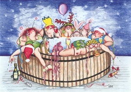 'The Hot Tub' card