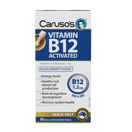 CARUSO VITAMIN B12 ACTIVATED 1.2MG 60 TABLETS