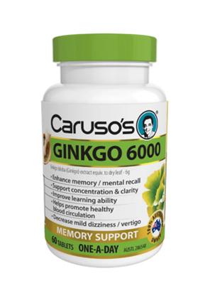 Caruso's Ginkgo 6000 60 Tablets