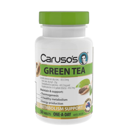 CARUSO's GREEN TEA 50 TABLETS