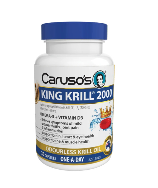 Caruso's King Krill 2000mg 30 Capsules