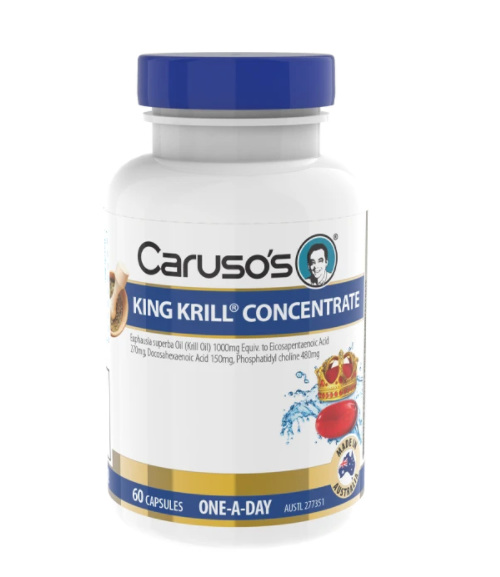 Caruso's King Krill Odourless Concentrate 60 Capsules