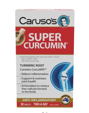 Caruso's Super Curcumin 30 Tablets