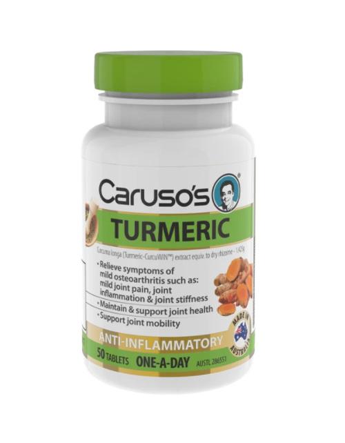 Caruso's Tumeric 50 Tablets