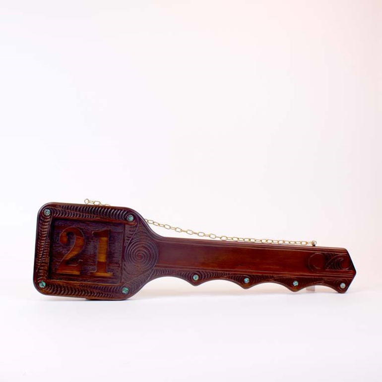 Carved 21st Key