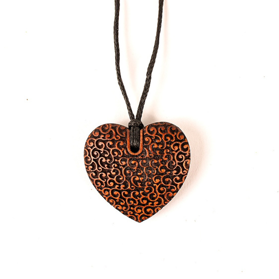 Carved Heartwood Pendant