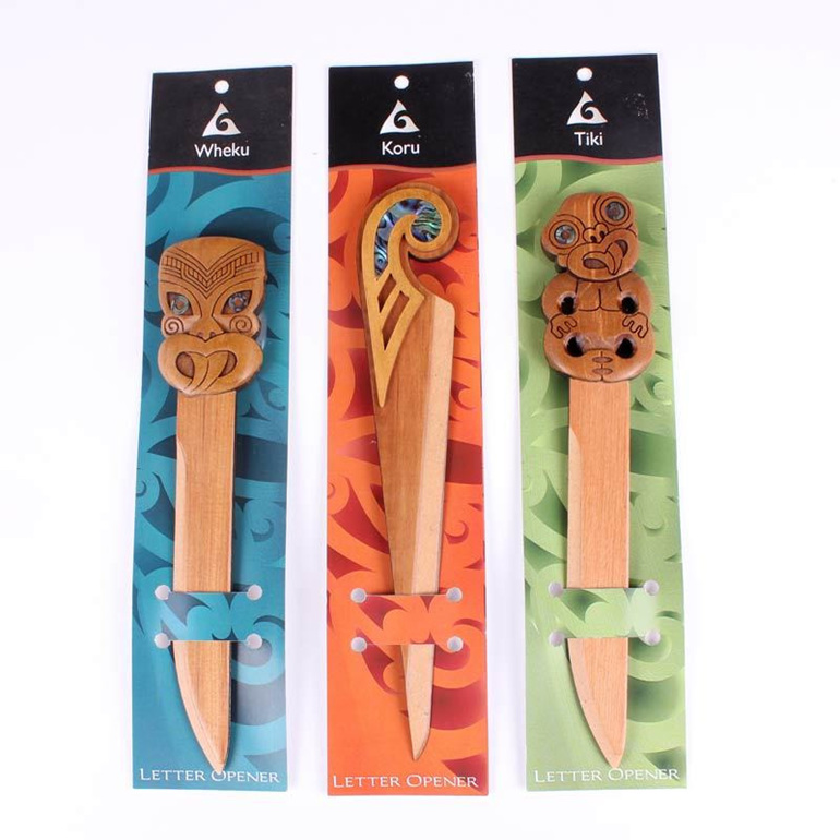 carved rimu letter openers
