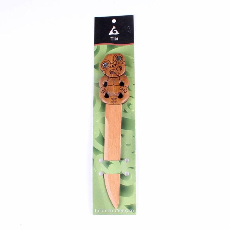 carved tiki letter opener