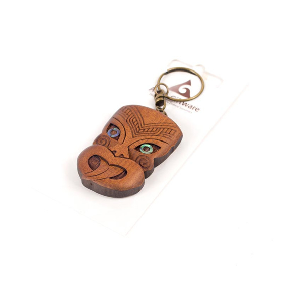 carved wheku key ring