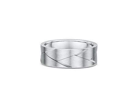 Carved Woven Mens Wedding Ring
