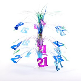 Cascade centrepiece - 21st, multi coloured