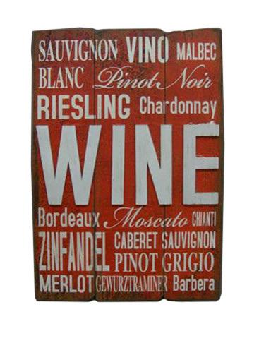 Case of Wine Plaque