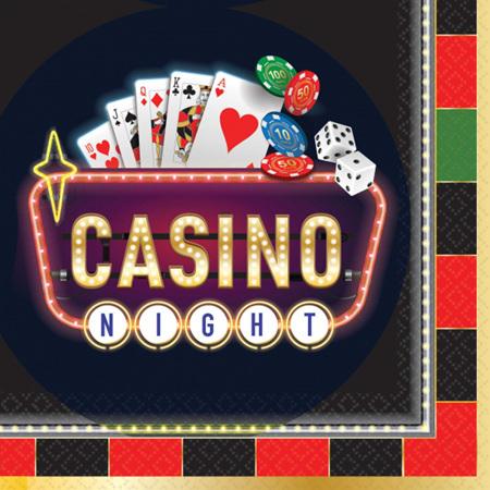 Casino napkin - 16 pack