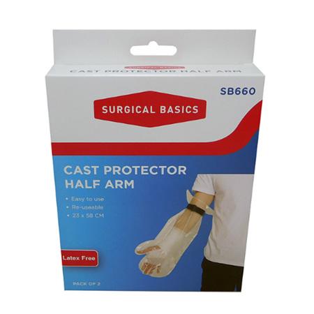 CAST PROTECTOR HALF ARM 35CM 2 PACK