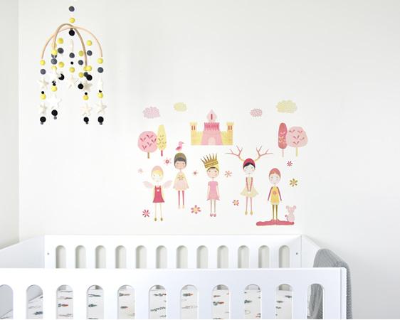 Castle girls wall mural