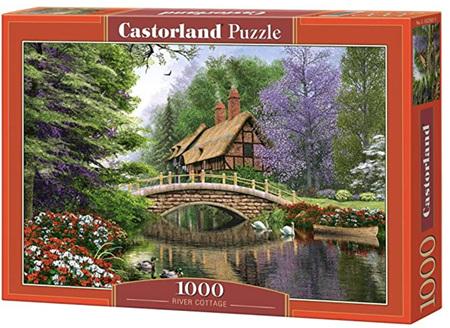 Castorland 1000 Piece Jigsaw Puzzle: River Cottage