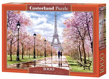 Castorland 1000 Piece Jigsaw Puzzle: Romantic Walk in Paris
