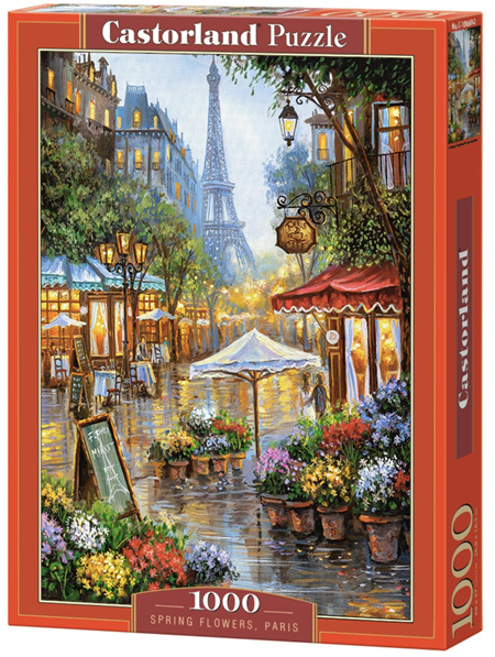 Castorland 1000 Piece Jigsaw Puzzle: Spring Flowers, Paris