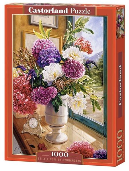 Castorland 1000 Piece Jigsaw Puzzle: Still Life with Hydrangeas