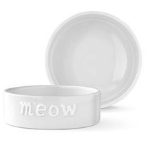 Cat Bowl Small Meow White