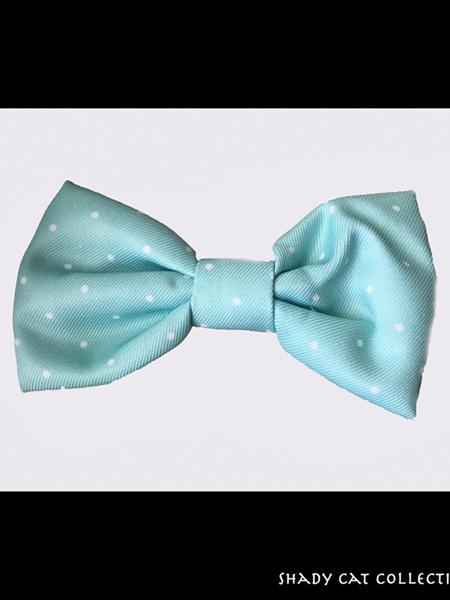 Cat Bowtie Blue Polkadot