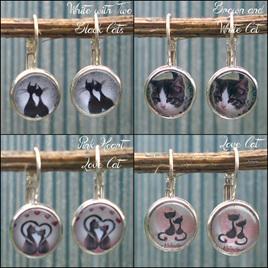Cat Dome Earrings