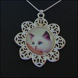 Cat Dome Necklaces - Fancy