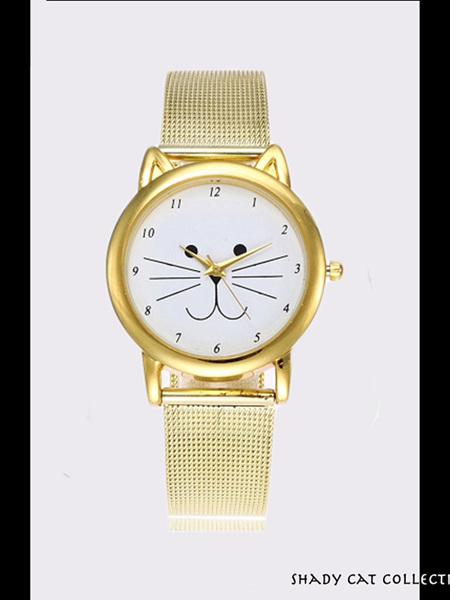 Cat Ear Watch - Gold Strap