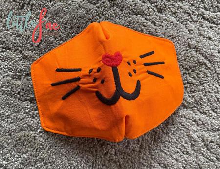Cat Face Mask Orange