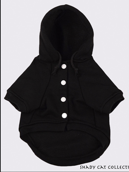 Cat Hoodie - Button Down