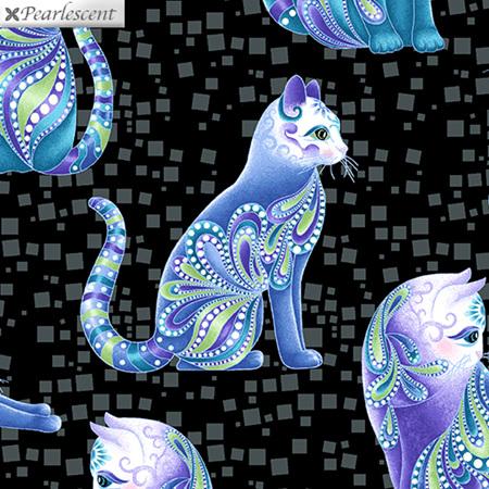 Cat-I-Tude Artist-O-Cats Black/Multi 10262P-12