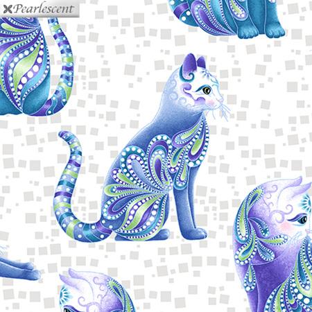 Cat-I-Tude Artist-O-Cats White/Multi 10262P-09