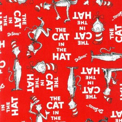 Cat in the Hat  bib red