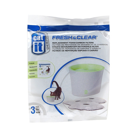 Cat It - Fresh & Clear Replacement Carbon Filter 3 pack