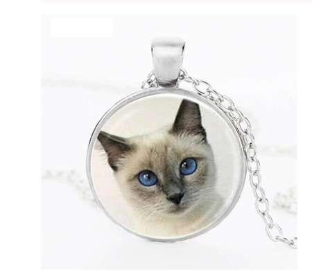 Cat Necklace- SILVER CHAIN