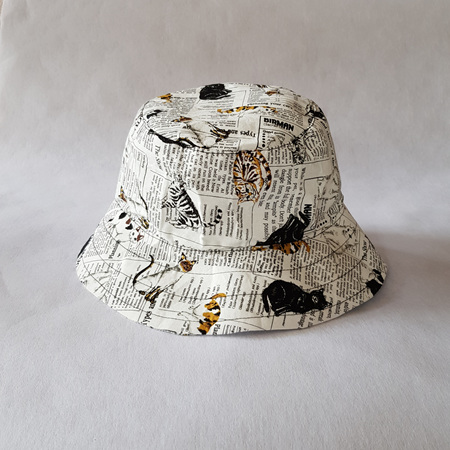 Cat News Bucket Hat - adult size large