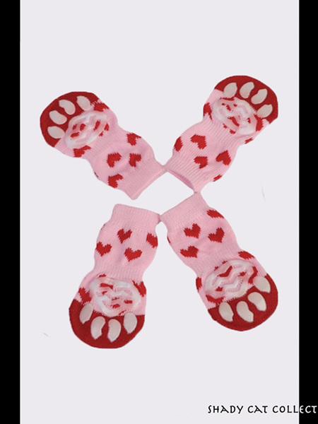 Cat Socks Pink 4pc